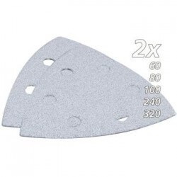 Trijstūra formas slīpēšanas papīra komplekts krāsām (10 gab.) MAKITA B-21674