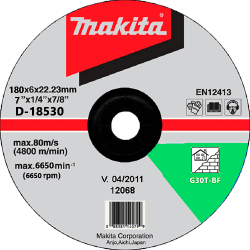 Slīpēšanas disks akmenim 180x6 MAKITA C24R
