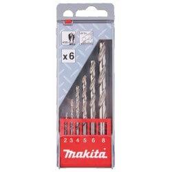 Urbju komplekts metālam MAKITA 2-8mm HSS-G