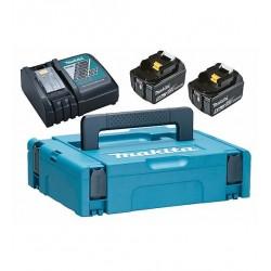 2 akumulatoru un lādētāja komplekts 18 V MAKITA PowerPack