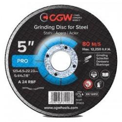 Slīpēšanas disks 125x6.5x22.5 A24 RBF T-27 CGW