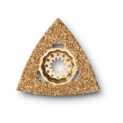 Ar karbīdu pārklāta trijstūra formas pamatne FEIN