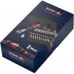 """Red Bull Racing 1/4"""" tirkšķatslēgas, muciņu un uzgaļu komplekts WERA (28 daļu)"""