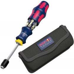 Red Bull Racing skrūvgrieža uzgaļi ar rokturi WERA KK20 (8 daļu)