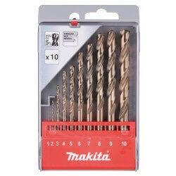 Metāla urbju komplekts MAKITA HSS Co5 1–10 mm, 10 gab.