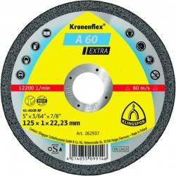Metāla griešanas disks KLINGSPOR A60 Extra Ø125x1 mm