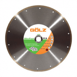 Dimanta disks keramikai GOLZ SlimFast Ø200x25,4mm