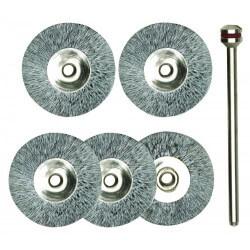 Tērauda birstītes Ø22 mm (5 gab.) PROXXON