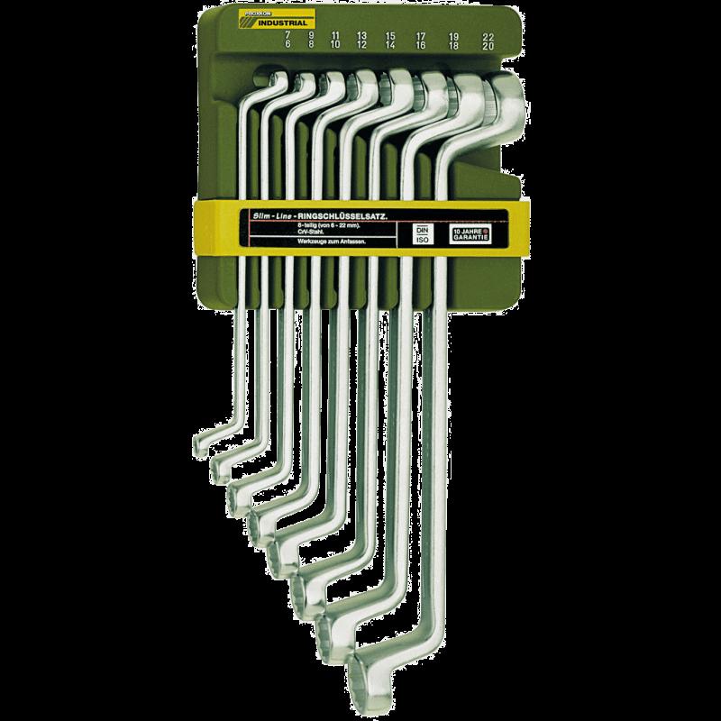 Uzgriežņatslēgu ar slēgtiem galiem komplekts 6–22mm PROXXON