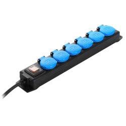 6 kontaktligzdu pagarinātājs AS-SCHWABE 1,5m H07RN-F 3G1,5