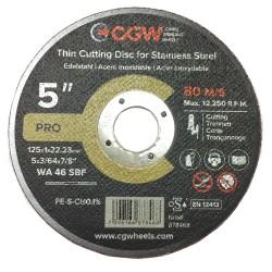 Metāla griešanas disks CGW 125x1x22,2 WA46 SBF T-1 INOX