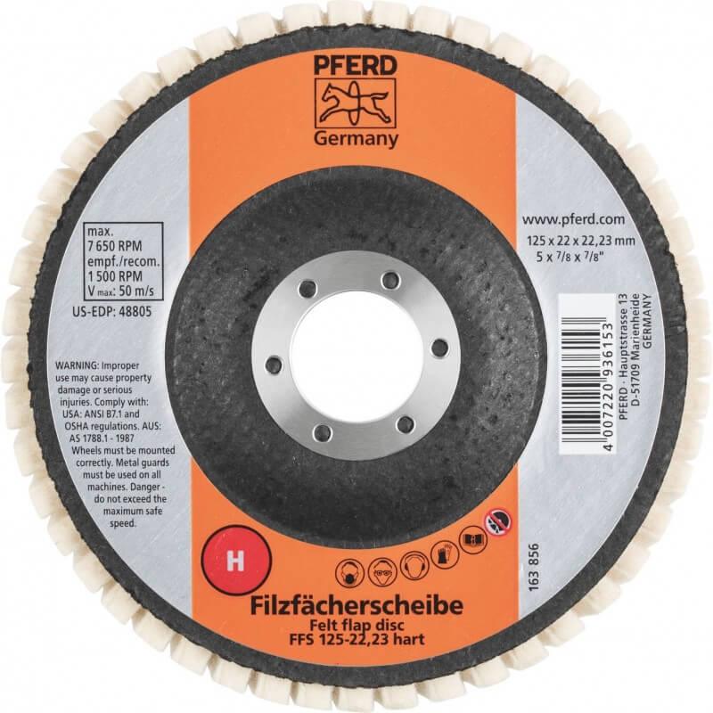Ciets pulēšanas disks PFERD FFS 125/22,23 H