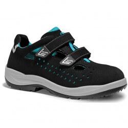 Sieviešu sandales ELTEN Impulse Lady Aqua Easy ESD S1P SRC, melnas/zilas