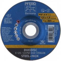 Griešanas un slīpēšanas disks PFERD E125-1,9 A46 P PSF DUO Steelox