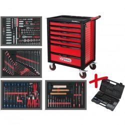 Instrumentu ratiņi KS TOOLS ar 515 gab. instrumentu + dāvanā ledusskapis