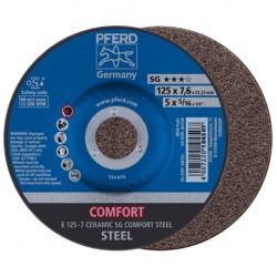 Slīpēšanas disks PFERD E 125-7 Ceramic SG Comfort Steel