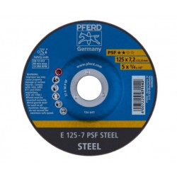Tērauda slīpēšanas disks PFERD PSF Ø125x7x22mm A30