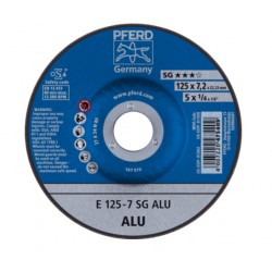 Metalo šlifavimo diskas Ø125x7x22mm E125-7 A 24 N SG ALU PFERD