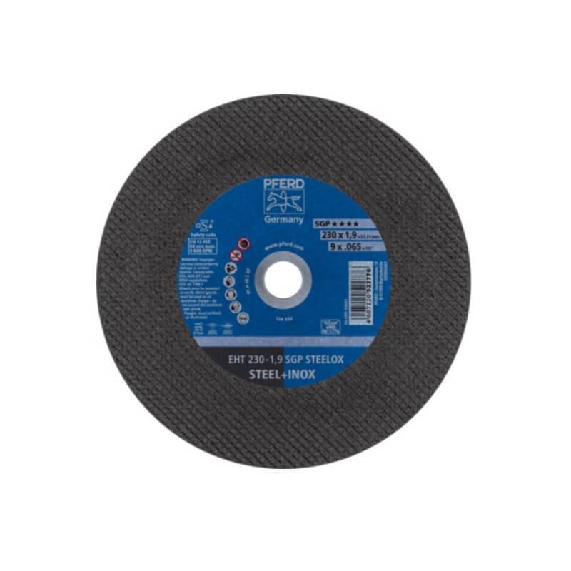 Nerūsējošā tērauda griešanas disks Ø230x1,9x22,23 mm EHT A46 S SGP-INOX PFERD