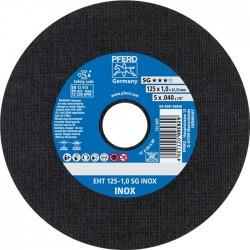 Nerūsējošā tērauda griešanas disks PFERD EHT125-1,0mm SG INOX