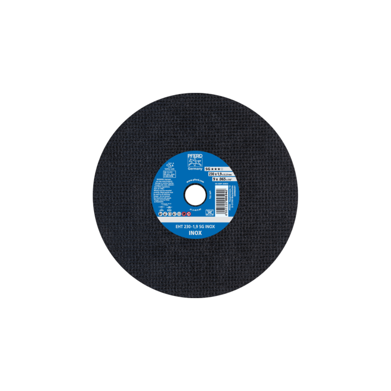 Nerūsējošā tērauda griešanas disks PFERD EHT230-1,9mm SG Inox