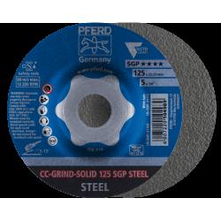 Slīpēšanas disks CC-Grind-Solid 125 SGP Steel Delta