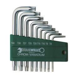 Seškantes TORX atslēgu komplekts STAHLWILLE 10766/9