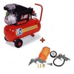 Vienfāzes gaisa kompresors ar instrumentu komplektu FIAC COSMOS 225 24L