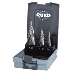 3 pakāpjurbju komplekts RUKO HSS Quick cut Ø4–30mm