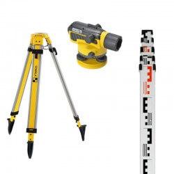 Optiska niveliera, statīva un teleskopiska lineāla komplekts STABILA OLS26 Set