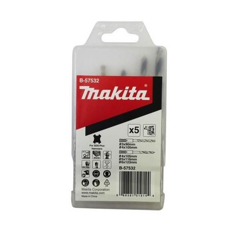 Urbju komplekts kokam/metālam MAKITA B-57532 SDS+