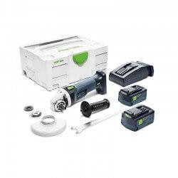 Akumulatora leņķa slīpmašīna FESTOOL AGC 18-125 Li 5,2 EB-Plus
