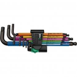 Krāsainu seškantes atslēgu komplekts WERA 950 SPKL/9 SM