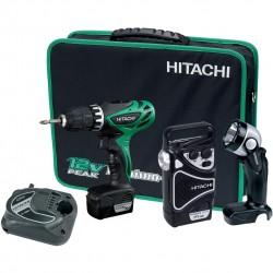 Akumulatora skrūvgrieža, radio un prožektora komplekts HITACHI KC10DHL(TL) Li-Ion 10,8 V, 1,5 Ah