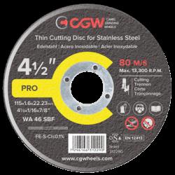 Griešanas disks CGW INOX WA 36 SBF 125x2,0x22,23mm