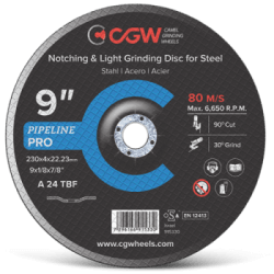 Griešanas disks CGW A 24 TBF 125x4,0x22,23mm