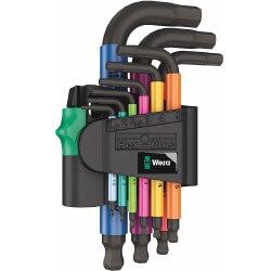 Krāsainu seškantes atslēgu komplekts WERA 950/9 SPKS