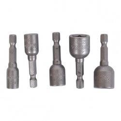 5 daļu magnētisko skrūvēšanas muciņu komplekts MAKITA B-39154