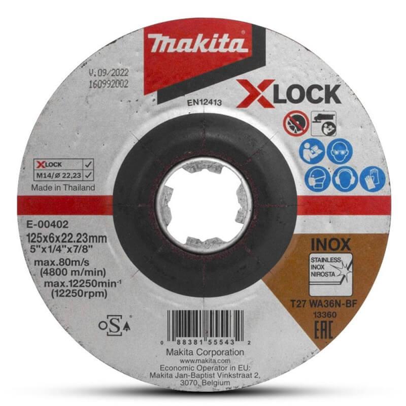 Slīpēšanas disks MAKITA X-Lock 125x6mm RST WA36N