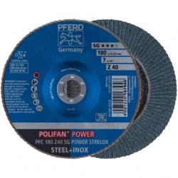 Slīpēšanas disks PFERD SA-PFC180 SG Power Steelox Z40