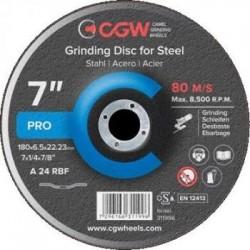 Slīpēšanas disks 230x6,5x22,2 A24 RBF CGW