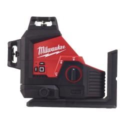3 plakņu lāzera nivelieris MILWAUKEE M12 3PL-0C