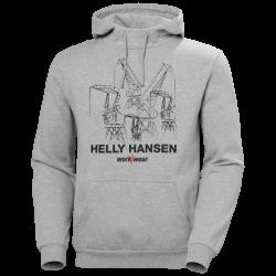 Džemperis HELLY HANSEN Manchester Graphic Hood, pelēks