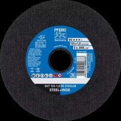 Tērauda, nerūsējošā tērauda griešanas disks PFERD EHT 125x1,0mm A60 R SG-INOX