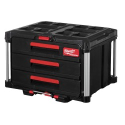 Instrumentu kaste ar 3 atvilktnēm MILWAUKEE Packout