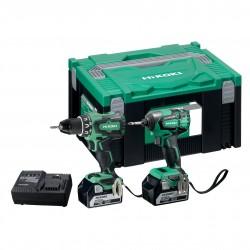 Akumulatora instrumentu komplekts HiKOKI KC18DBSL