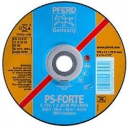 Nerūsējošā tērauda slīpēšanas disks PSF INOX PFERD