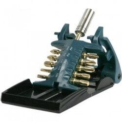 Torsion skrūvēšanas uzgaļu (11 gab.) komplekts (PH 1,2,3/ PZ 1,2,3/ T15,20,25,30/ Torsion magnētiskais turētājs MAKITA B-28597