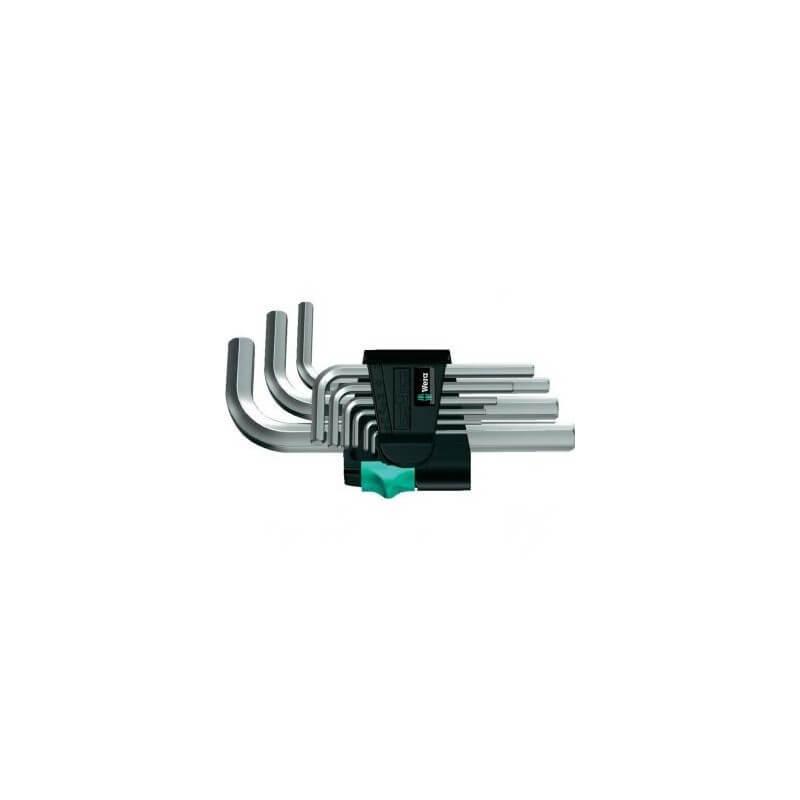 Seškantes L formas atslēgu komplekts WERA 950/9 SM