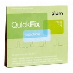 Plāksteri ar metāla josliņu PLUM QuickFix 6x45 gab.
